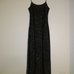 Jump Apparel Co. Char. Grey Sparkle Evening Gown